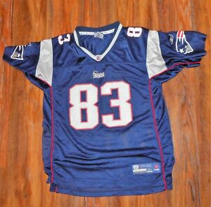 6c816335195 NFL REEBOK New England Patriots #83 WES WELKER Jersey YOUTH Size XL ...