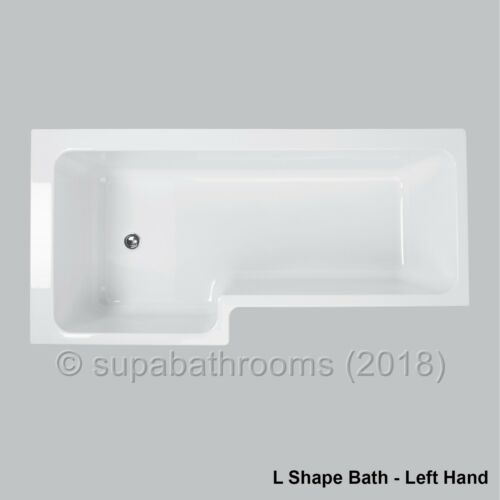 1700 Left /& Right Hand L Shaped Shower Bath Tub Glass Screen Front End Panels