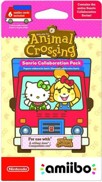 Animal Crossing Sanrio Collab Hello Kitty Amiibo Card Pack - 6 Cards