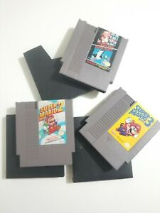 NINTENDO-NES-VIDEO-GAME-CARTRIDGE-LOT-SUPER-MARIO-BROS-BROTHERS-1-2-3