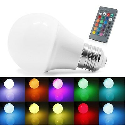 85-265V 10/15W E27 RGB LED Light Color Change Lamp Bulb+Remote Control