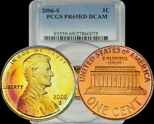2006 S Proof Lincoln Cent Penny  PCGS PR69RD DCAM