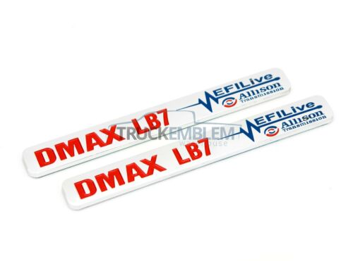 "2 New Chrome /& Red Duramax Diesel /""DMAX LB7/"" Allison EFI LIVE 2500 3500 Badges"