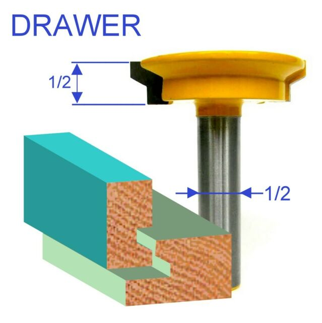 """1 pc 1//2/"""" Shank Drawer Lock Joint Router Bit S"""
