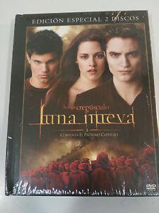 Saga-Crepuscolo-Luna-Nuovo-2-DVD-Libro-Spagnolo-English-Nuovo-3T
