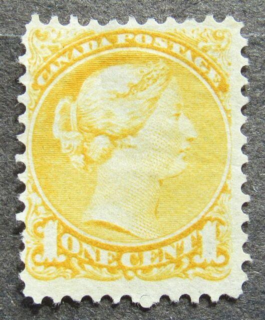 Canada 1870 1C Queen Victoria gez 12 yellow, Mi #26aA MNG
