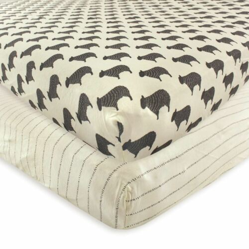 Hudson Baby Boy and Girl Fitted Crib Sheet Sheep 2-Pack