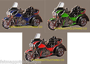 Harley Electra Glide Trike Pin, Triker, biker, HOG, Servi-Car