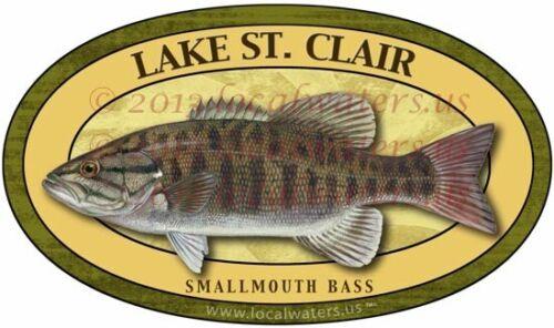 Clair Sticker Smallmouth Bass Fishing DecalGUARANTEED 3 years no fade Lake St