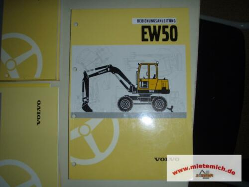 Volvo Bedienungsanleitung Betriebsanleitung EW50 Handbuch EW 50 Radbagger
