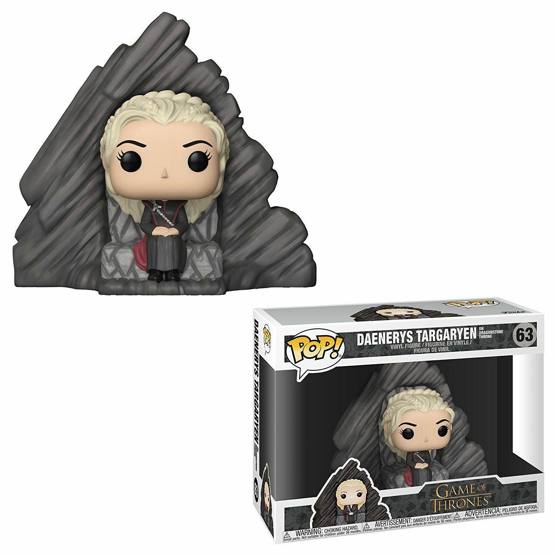 Funko Pop  Game of Thrones Thrones Thrones Daenerys Targaryen on Dragonstone Throne Figurine  63 c41b05
