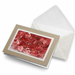Greetings-Card-Biege-Cool-Macro-Red-Ruby-Stones-3439