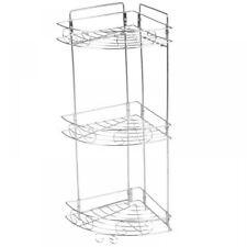 Bathroom Shelf Unit   3 Tier Chrome Metal Swirl Bath Organiser Corner Shelf Unit Shower