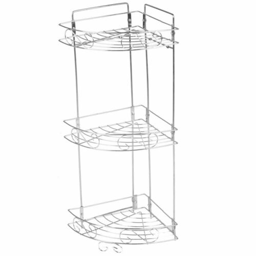 Chrome Metal Hanging Rectangle Corner Shower Caddy Bathroom Shelf Basket Tidy