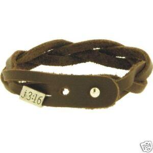 John-3-16-Braided-Brown-Leather-Bracelet-Adjustable-With-Vintage-Metal-Slider