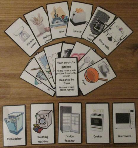 Cartes visuelle cuisine ~ ~ ~ ~ l/'étage Lounge pour l/'apprentissage de tous les jours ~ ~ Cartes de couleurs sen ~