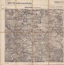 FIRENZUOLA: 4 CARTE. Barberino di Mugello, Borgo San Lorenzo,Scarperia. IGM.1885