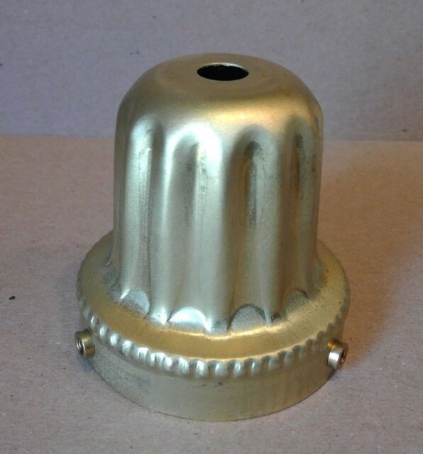 Solid brass Raw Finish  2 1/4 inch fitter lamp Ribbed shade holder