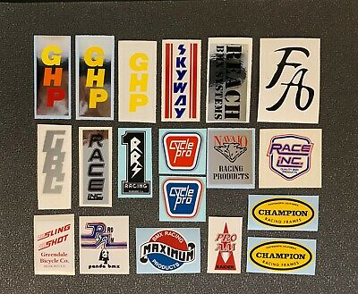 Race Inc /& 8 Other Brand Crank Decals for REDLINE-1 pair JMC Torker Skyway