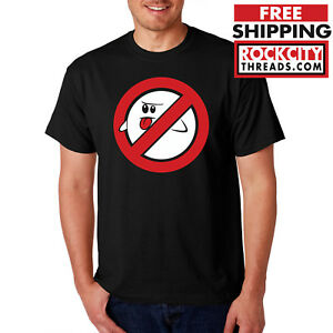 BOO-THE-GHOSTBUSTERS-T-SHIRT-Ghost-Shirt-Videogame-Nintendo-Super-Mario-Tshirt