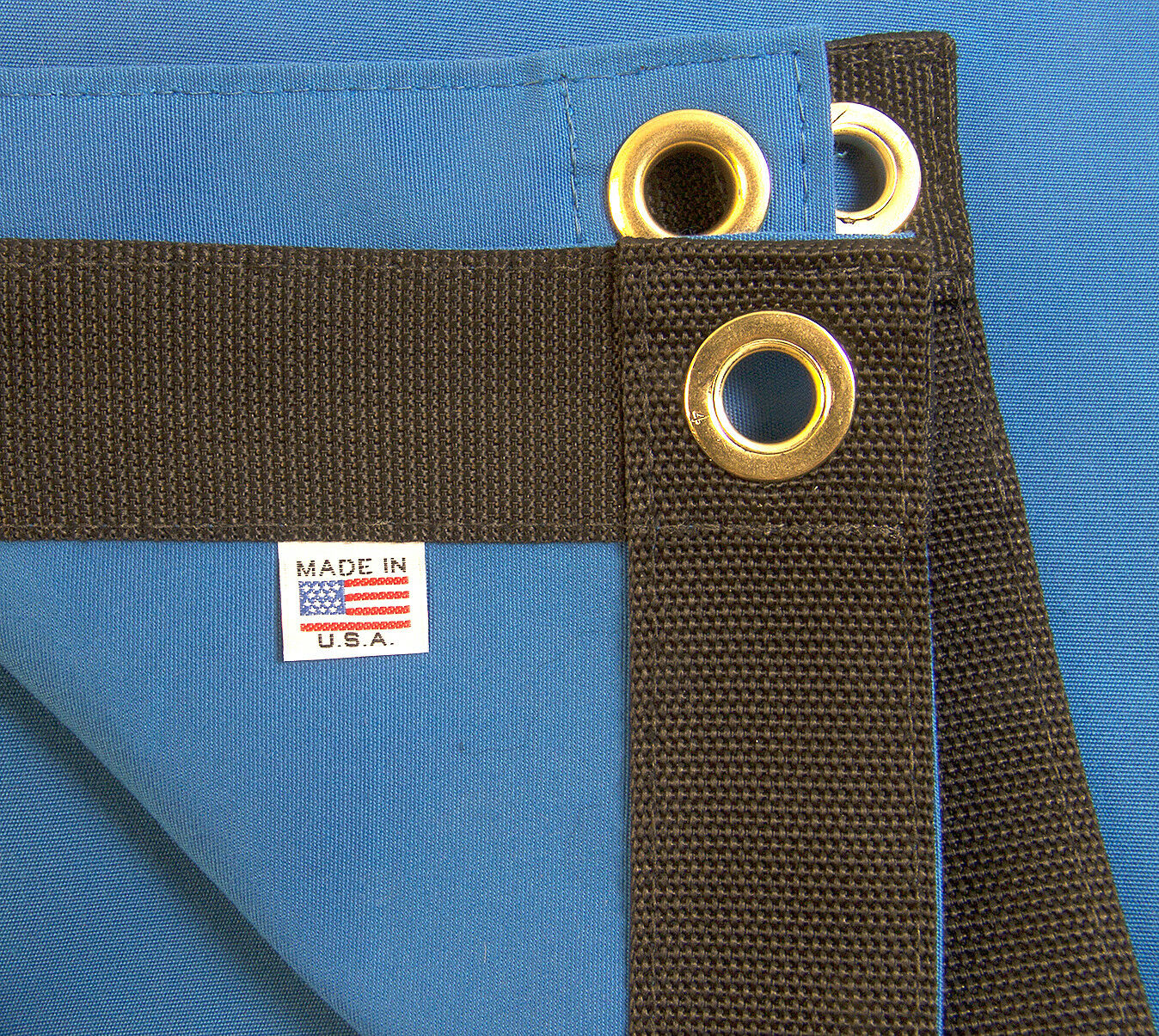 Sunbrella Tarp, Pacific bluee w  Rolled Rim Spur Grommets, 9 16