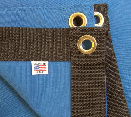 "Sunbrella Tarp 9//16/"" Pacific Blue # 6001 w// #4 Rolled Rim Spur Grommets"