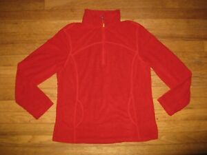 Tangerine-Women-039-s-Size-Large-1-4-Zip-Red-Lightweight-Fleece-Active-Wear-Pullover