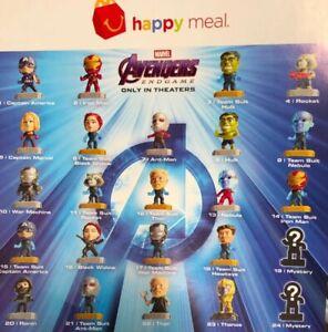 Pick-Ur-Favorite-McDonald-039-s-2019-Marvel-Avengers-Endgame-Happy-Meal-Toys-New