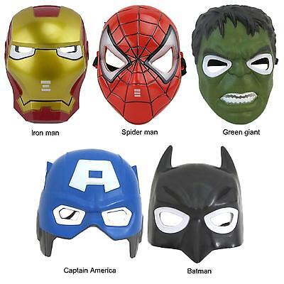 Marvel Super Heroes Hulk Batman Captain America Spiderman Iron Man LED Mask Toy
