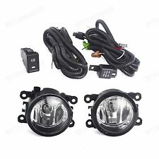 Clear Front Fog Lights Kit For Suzuki Grand Vitara/SX4 4Dr 2006-2012 LH RH Pair