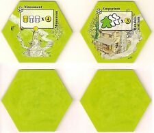 Keyflower: Emporium & Monument expansion tiles RARE Spielbox Magazine 2013 NEW