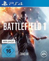 Battlefield 1 (Sony PlayStation 4, 2016) neu & OVP deutsch 100% Uncut
