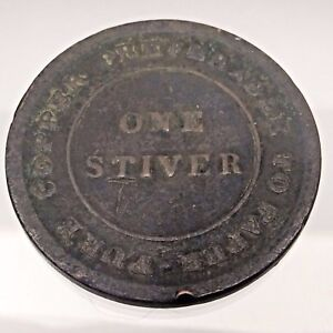 1838-Trade-Navigation-One-1-Stiver-Copper-Preferable-Paper-Colonial-Token-B672