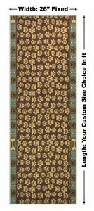 Antibacterial-Custom-Size-Green-Pet-Paw-Non-Skid-Runner-Rug-Pick-Your-Own-Size