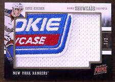 2012/13 CHRIS KREIDER PANINI PRIME ROOKIE SHOWCASE LOGO PATCH  ROOKIE RC 1/2!