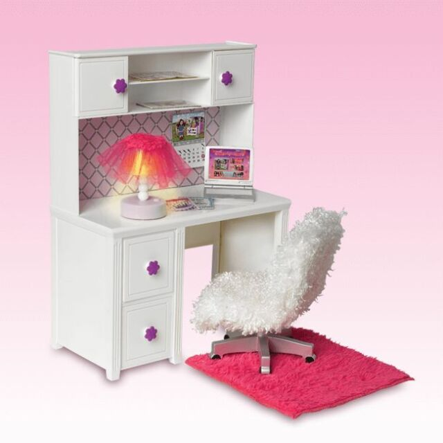 my life as desk chair 14pc set lamp lights 18 doll american girl rh ebay com american girl desk organizer american girl desk diy