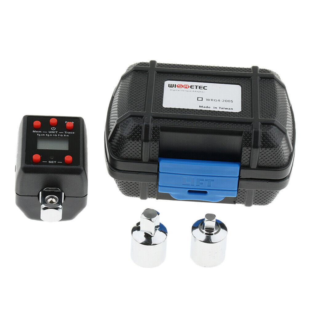 Adaptateur de couple Digital 1 2  Drive 2-200Nm Clés dynamométriques