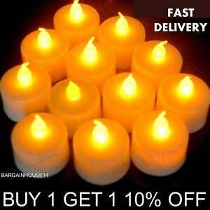 Yellow-Flameless-LED-Candle-Flickering-Tea-Light-Battery-Operated-TeaLights
