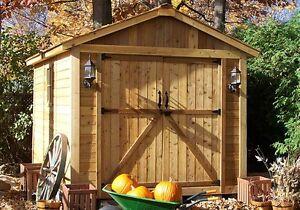 Outdoor Living Today SpaceMaker Cedar Storage Shed  8' x 12' with Door, Window