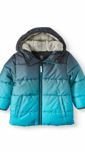 NWT Toddler Boys Bubble Winter Jacket Coat Size 2T Wonder Nation Clear Ocean NEW