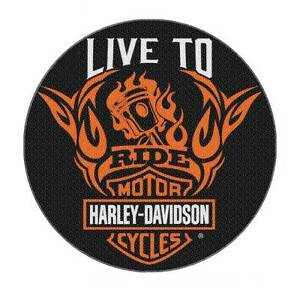 Image Is Loading Harley Davidson Live To Ride Round Rug 22