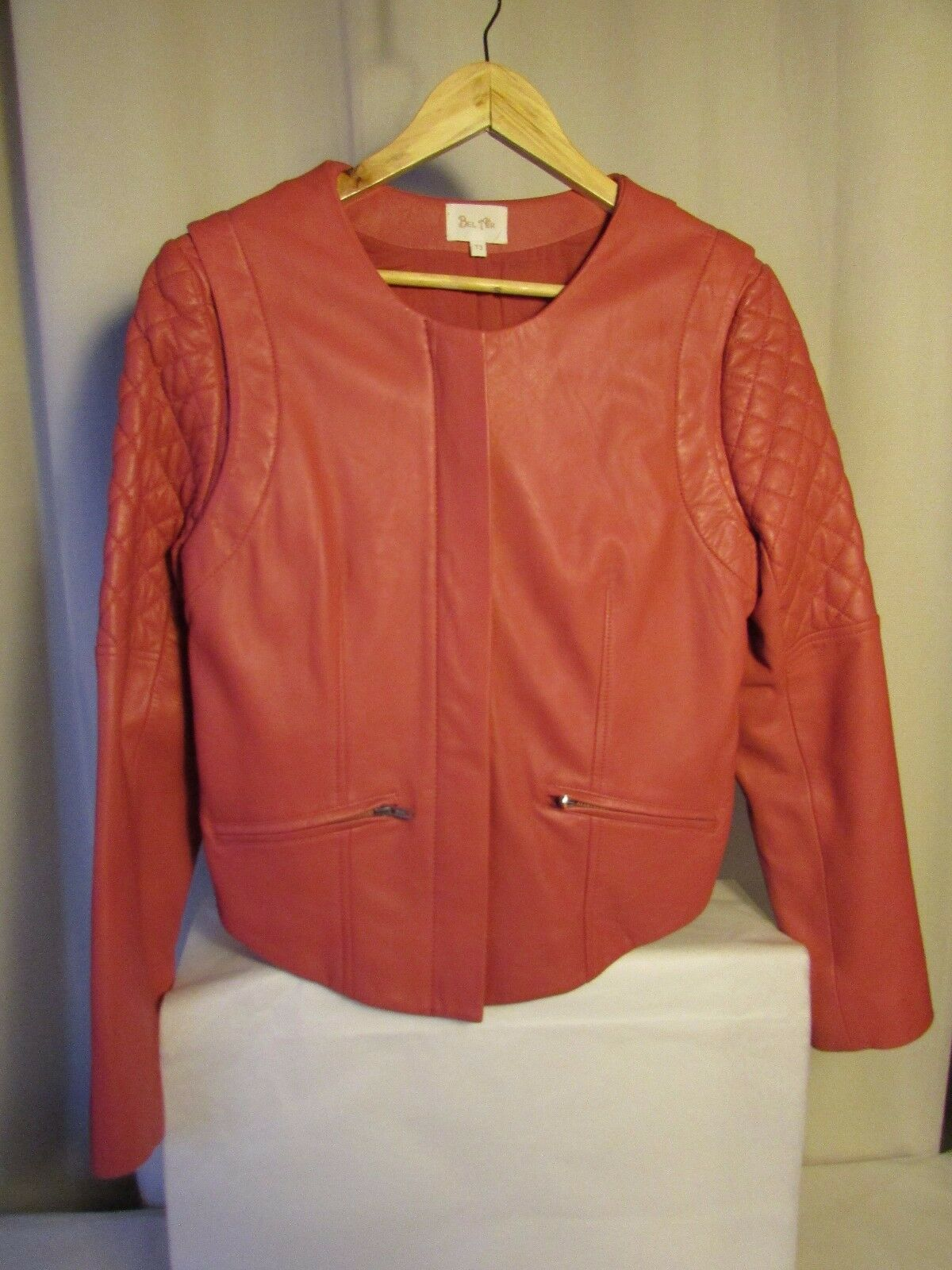 Blouson BEL AIR cuir pink size 3