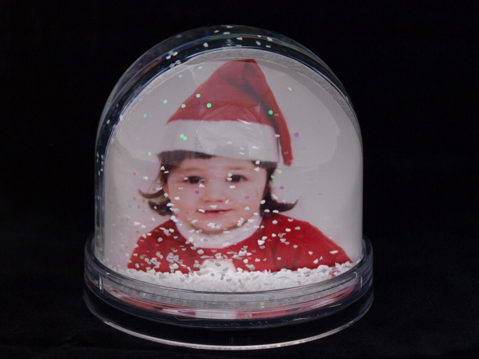 36 Snow & Glitter Globes coupoles de gros vrac UK Clear Base