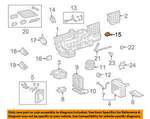 mercedes oem 98 01 ml320 3 2l v6 evaporator heater motor 1638200108 rh ebay com