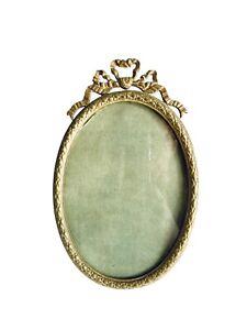 Antique-Beautiful-Brass-Ormolu-Picture-Easel-Leg-Frame-8-H-X-5-W