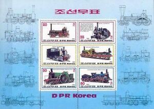 Timbres-Trains-Coree-BF147-lot-6408-cote-Michel-75-00-euros