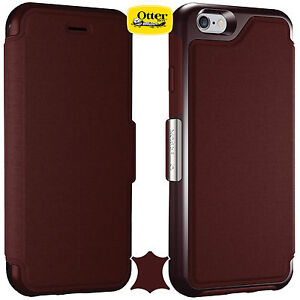 sale retailer a32da 20436 Details about Genuine Otterbox Strada Crafted Flip Case With Card Holder  iPhone 6/6S 77-51686