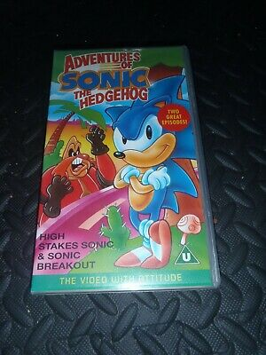 The Adventures Of Sonic The Hedgehog Vhs Ebay