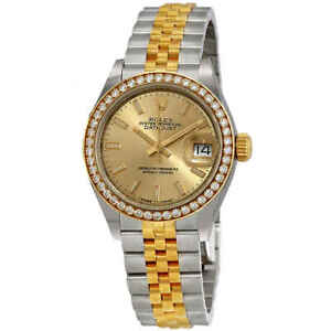 Rolex Lady Datejust Automatic Chronometer Diamond Champagne Dial Ladies Watch