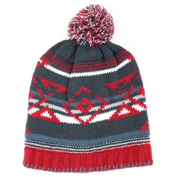 2019 Nuovo Stile Beanie Bobble Cappello In Maglia A Trama Grossa Baggy Slouch Soft Warm Aztec Print Ladies Mens Styling Aggiornato